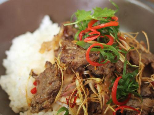 Món cơm thịt bò kho sả ớt ngon tuyệt