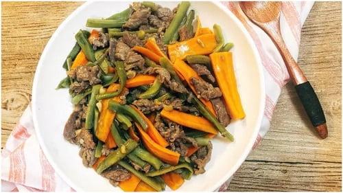 Cách làm món rau tiến vua xào thịt bò