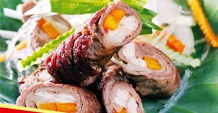 Công thức chế biến thịt bò mùa thu với món thịt bò nướng lá sen hấp dẫn