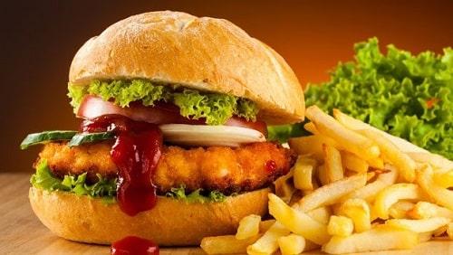Hamburger gà rán