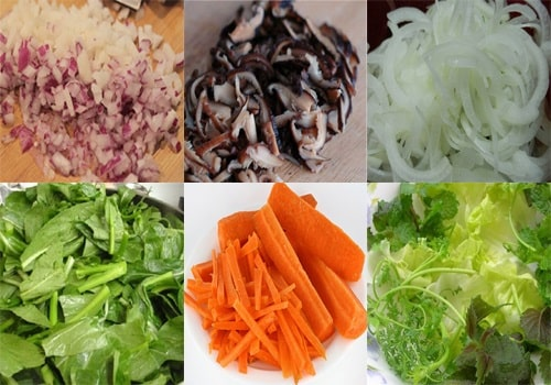 Nguyên liệu rau củ cho món xào thập cẩm